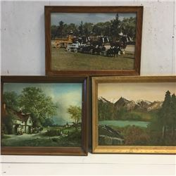 LOT128: Combo: 3 Framed Pictures