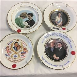 LOT171: Royalty Mini Collector Plates (4)
