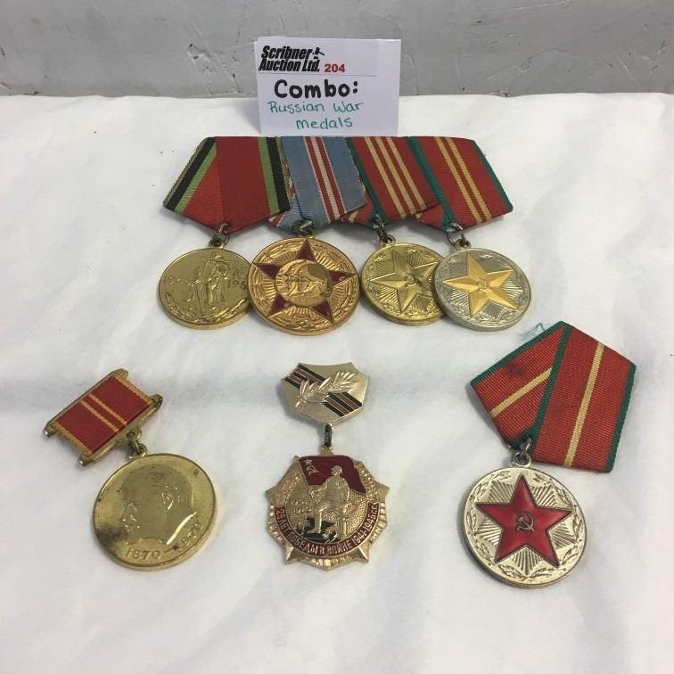 Lot204 Soviet War Medals