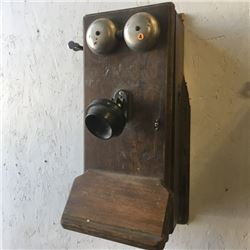 LOT230A: Wooden Box Wall Phones (CHOICE of 2)