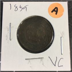 LOT249A: Canada Large One Cent (CHOICE of 6)