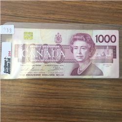 LOT254: Canada $1000 Bill 1988