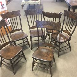 LOT271: Press Back Dining Chairs - Set of 6 !