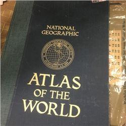 LOT286: National Geographic Atlas of the World & 1937 Robin Hood Flour Calendar
