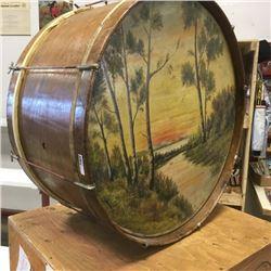 LOT296: Large Painted Drum
