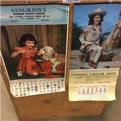 LOT297: 2 Store Calendars 1952