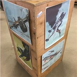 LOT300: War Planes Prints for Military Book Club (4): Flying Fortress, Lightning, Liberator & Thunde