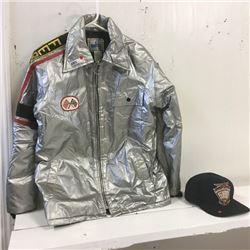 LOT311: Retro Team Ferrari Jacket & Team Cap Indi 500