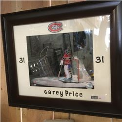 LOT380: Framed Carey Price Autographed Picture !