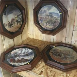 "LOT383: Harland Young ""Western"" Collector Plates (4)"