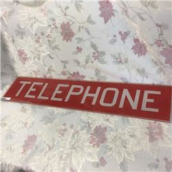 LOT409: Glass Telephone Booth Sign