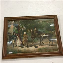 "LOT469: Antique ""Knapp Co Lith NY"" Framed Picture (Antebellum Era)"