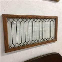 LOT476: Framed Lead Glass Window (crack)