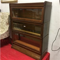 LOT481: Weis Barrister Bookcase (3 Section)