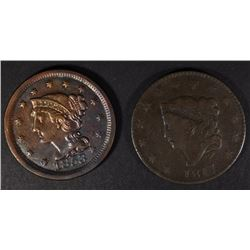 1817 FINE & 1853 VF+ LARGE CENTS