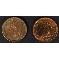 1860 XF & 1906 BU INDIAN HEAD CENTS