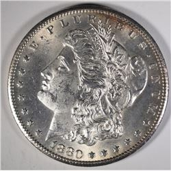 1880-CC MORGAN SILVER DOLLAR, CHOICE BU