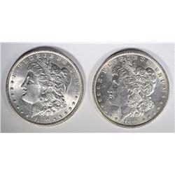 1889 & 1890 CHOICE BU MORGAN DOLLARS
