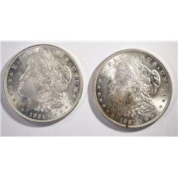 2 - 1921 MORGAN SILVER DOLLARS