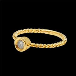 0.13CT NATURAL DIAMOND 14K YELLOW GOLD RING