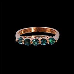 0.63CT NATURAL ALEXANDRITE 14K ROSE GOLD RING