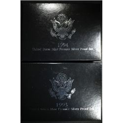 1993 & 1994 SILVER PREMIER SETS
