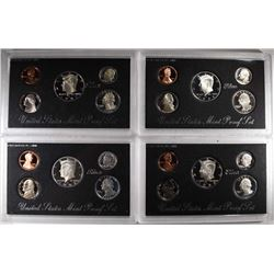 1992, 1993, 1995, 1997 U.S. SILVER PROOF SETS