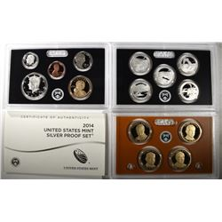 2014 United States Mint Silver Proof Set.