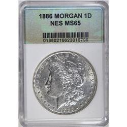 1886 MORGAN DOLLAR NES GEM BU