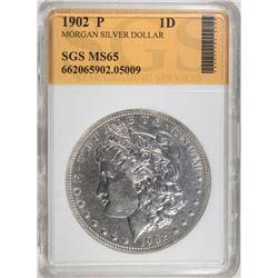 1902 MORGAN DOLLAR SGS GEM BU