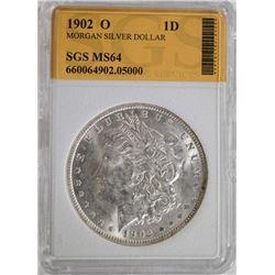 1902-O MORGAN DOLLAR, SGS CH BU+