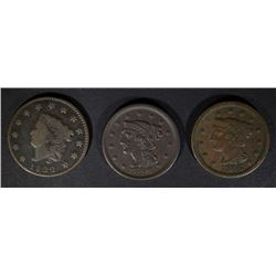 LARGE CENTS: 1822 GOOD, 1846 VG & 1846 VF