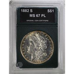 1882-S MORGAN DOLLAR OCC SUPERB GEM BU PL