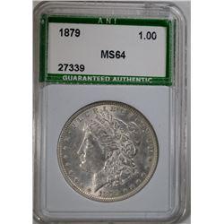 1879 MORGAN DOLLAR ANI CH BU+