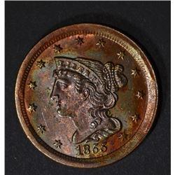 1855 HALF CENT GEM BU