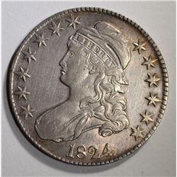 1824 BUST HALF AU