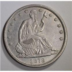 1878 SEATED LIBERTY HALF AU/BU
