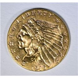 1915 $2.50 GOLD INDIAN, BU
