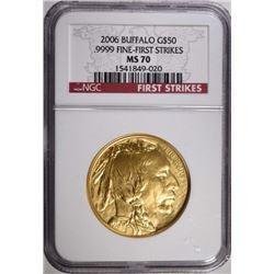 2006 GOLD $50.00 BUFFALO NGC MS 70