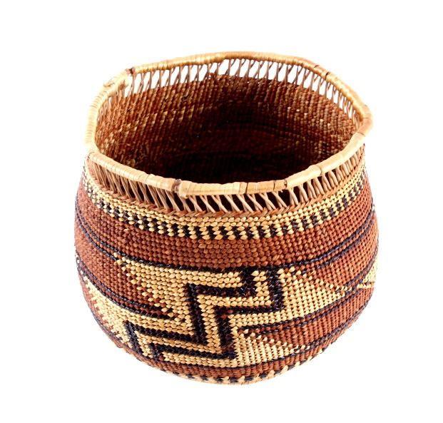 Yurok Native American Indian Trinket Basket