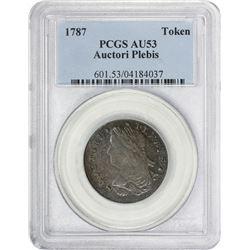 1787 Auctori Plebis Copper 1787 Auctori Plebis Copper. Breen-1147, W-8770. AU-53 PCGS.