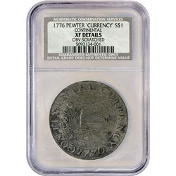 "Highly Collectible 1776 Continental ""Dollar"" Correct CURRENCY Spelling 1776 Continental Dollar. CURR"