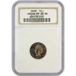 Gem RB Proof 1909 Indian Cent 1909 Indian Cent. Proof-65 RB NGC.