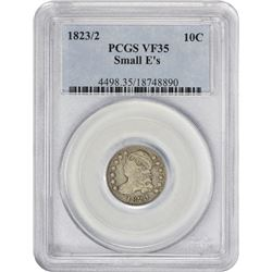 Choice VF 1823/2 Dime 1823/2 Dime Small Es. JR-1. Rarity-3. VF-35 PCGS.