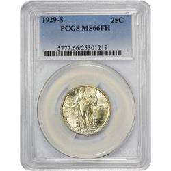 Sharp Gem 1929-S Quarter 1929-S Quarter MS-66 FH PCGS.