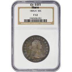 Popular Overdate 1805/4 Half Dollar 1805/4 Half Dollar O-101. Rarity-3. Fine-12 NGC.