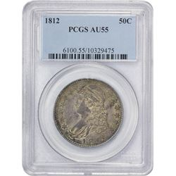 Choice AU 1812 Half Dollar 1812 Half Dollar O-103. Rarity-1. AU-55 PCGS.