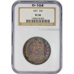 VF 1821 Half Dollar 1821 Half Dollar O-104. Rarity-1. VF-30 NGC.