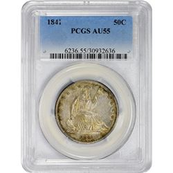 Choice AU 1841 Half Dollar 1841 Half Dollar AU-55 PCGS.