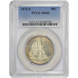 Mint State 1876-S Half Dollar 1876-S Half Dollar MS-62 PCGS.